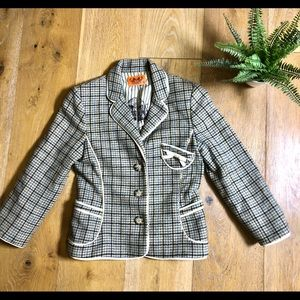 Juicy Couture plaid wool women's jacket S